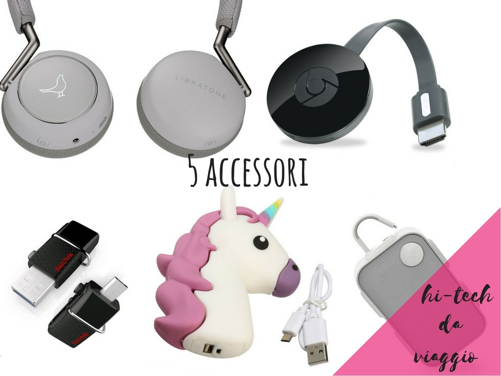 accessori hi-tech da viaggio power bank unicorno