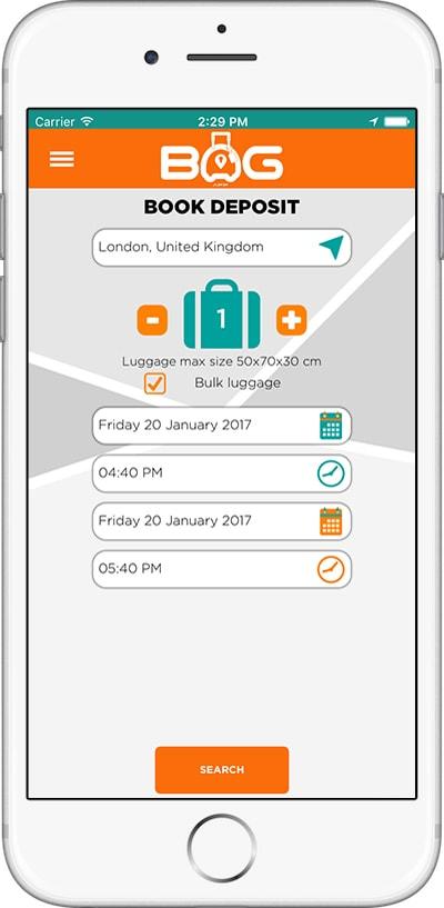 BagApp applicazione per disfarti dei bagagli