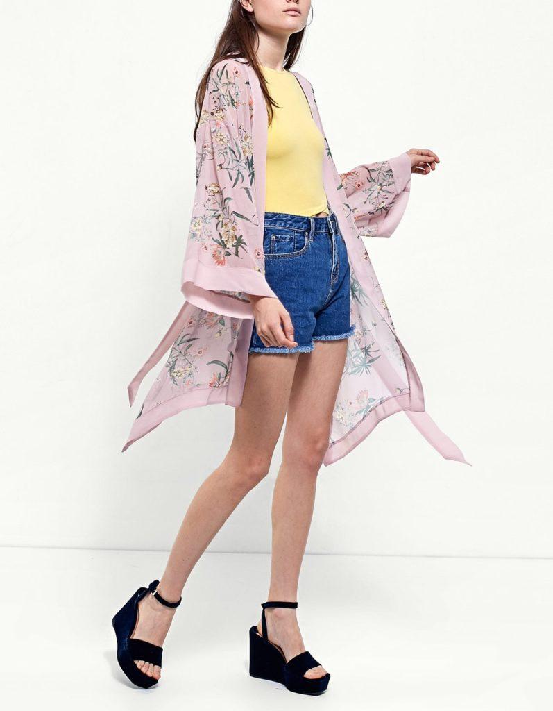 Kimono midi come abbinarlo