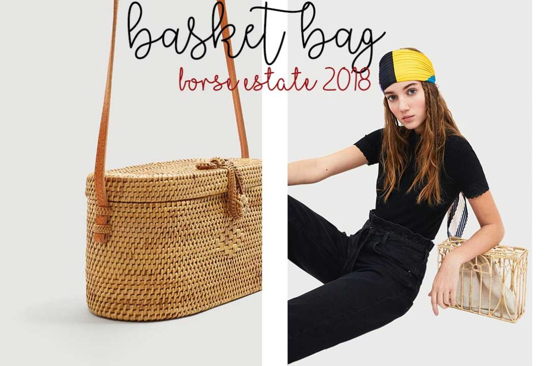 accessori estate 2018 borse in bambù rafia basket bag