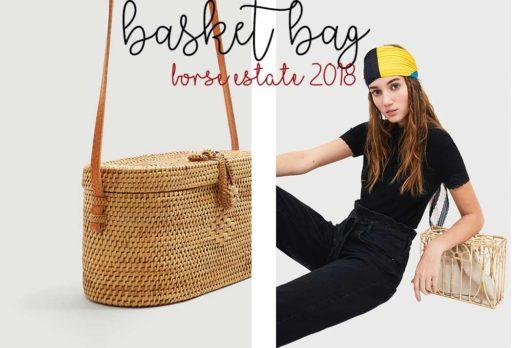 Accessori estate 2018: borse in bambù, rafia o basket bag