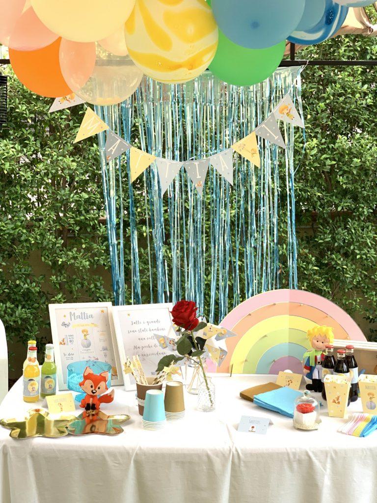 allestimento sweet table primo compleanno a tema piccolo principe
