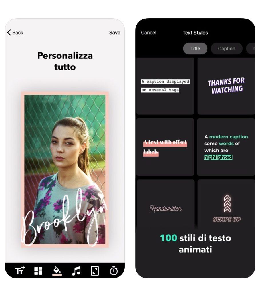 applicazione mojo per animare le stories su Instagram