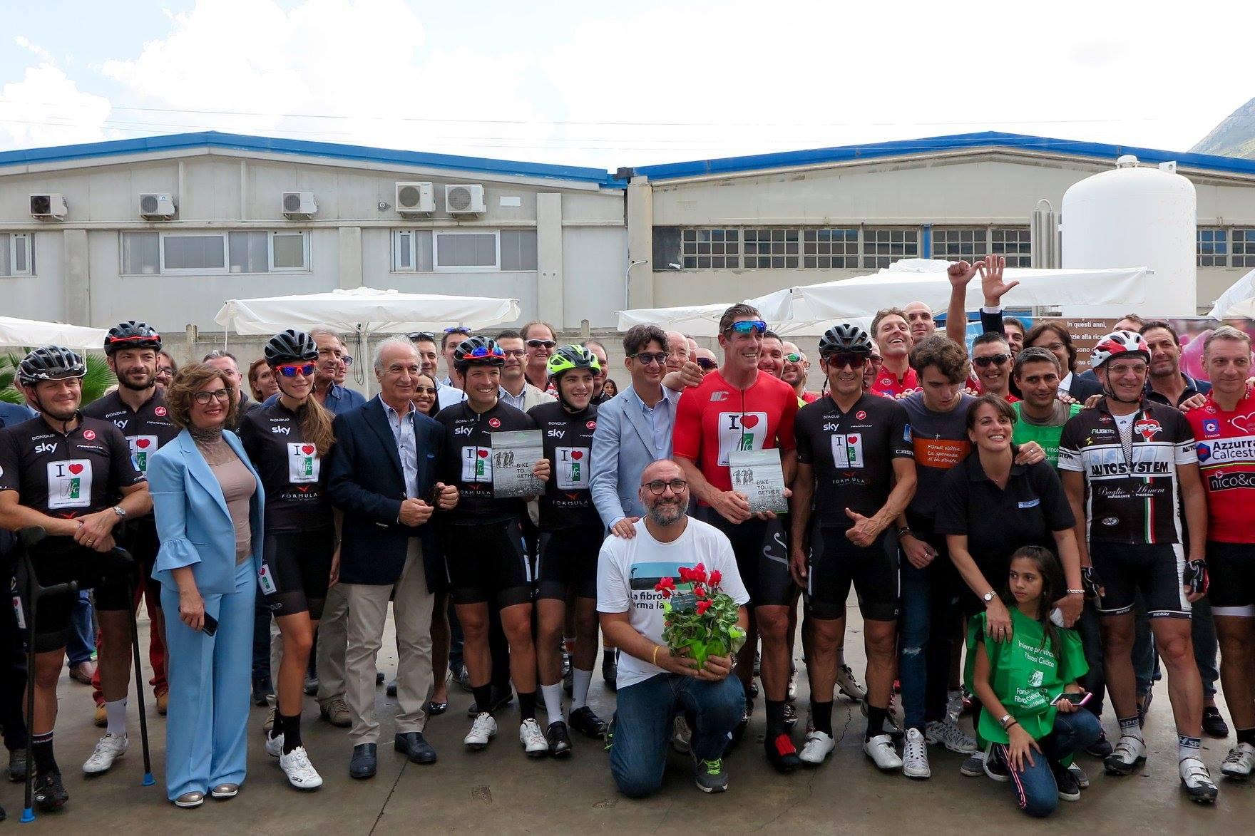bike tour per la ricerca per la fibrosi cistica