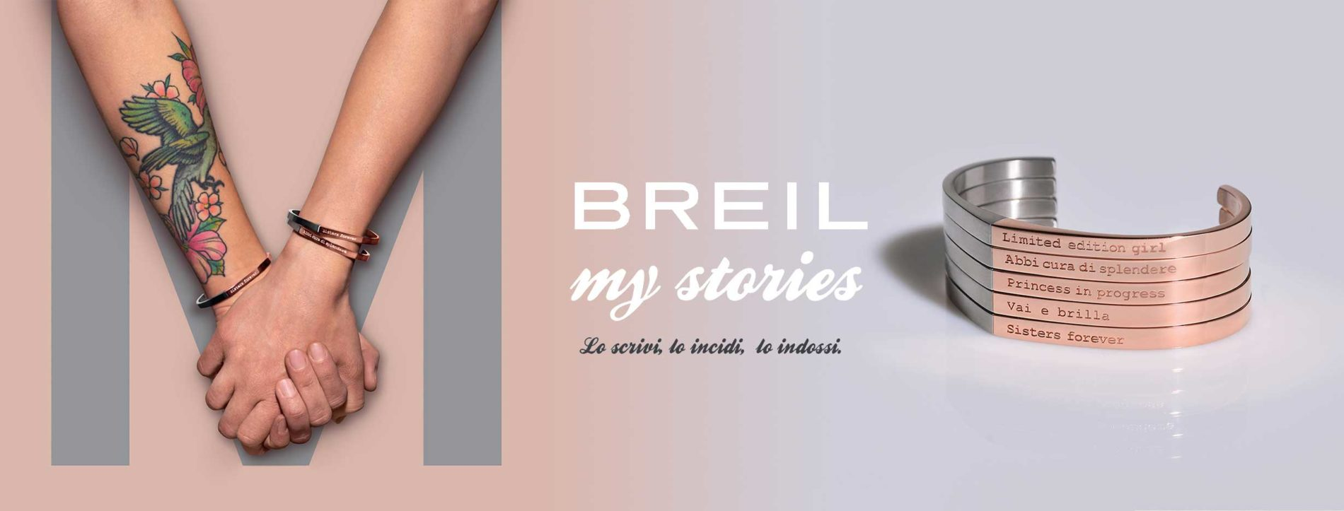 check out 15b07 6ffed I nuovi bracciali Breil my stories, i gioielli da personalizzare