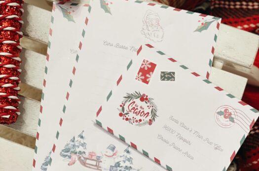 Freebie: busta e lettera per Babbo Natale da stampare