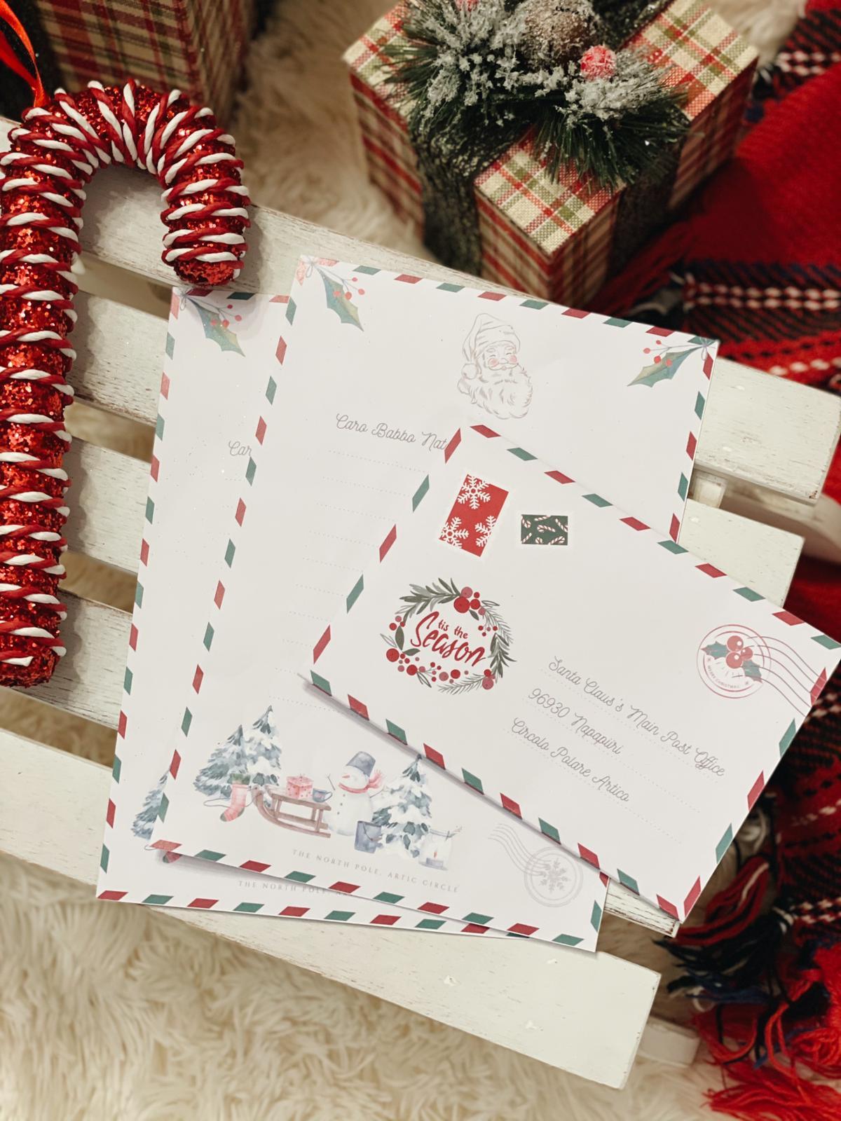 Busta e lettera per Babbo Natale da stampare gratuitamente