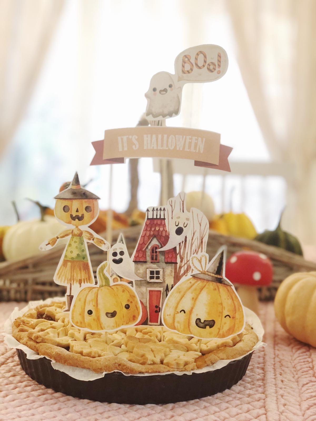 cake topper di halloween freebie