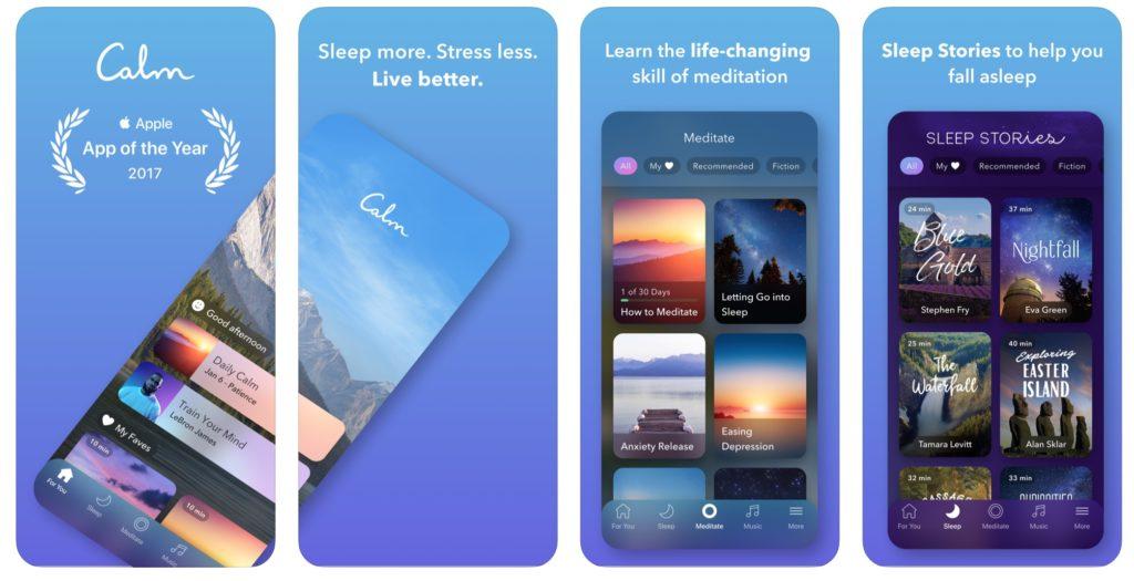Calm app per ridurre lo stress