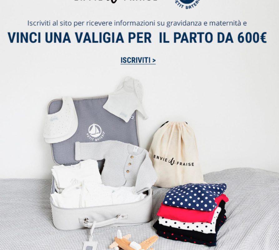 Vinci una valigia per il parto con capi Envie de Fraise e Petit Bateatu