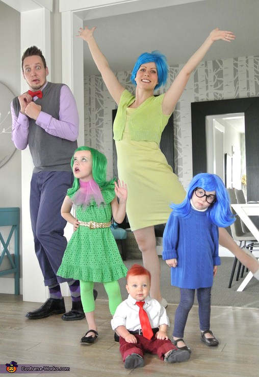 costume carnevale famiglia inside out