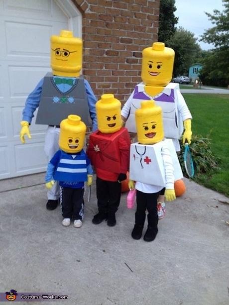 famiglia lego costume di Carnevale