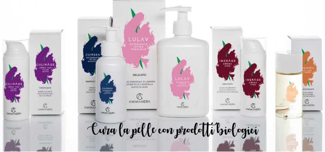 cura della pelle con prodotti biologici