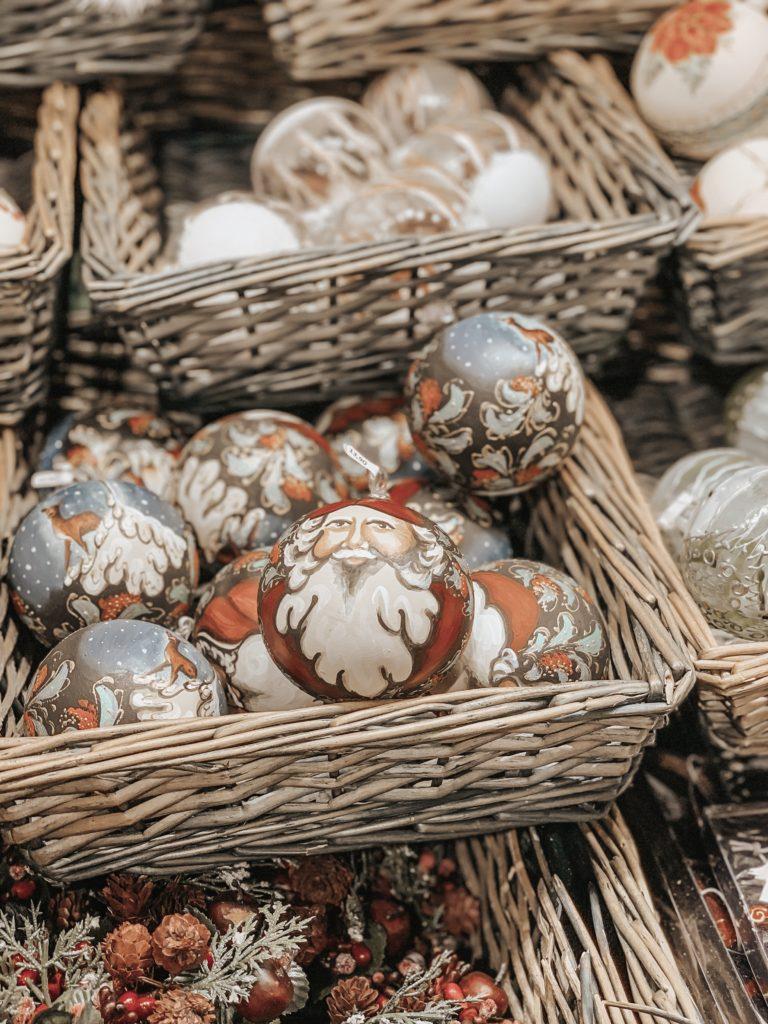 palline decorate a mano mercatini di Natale Vienna