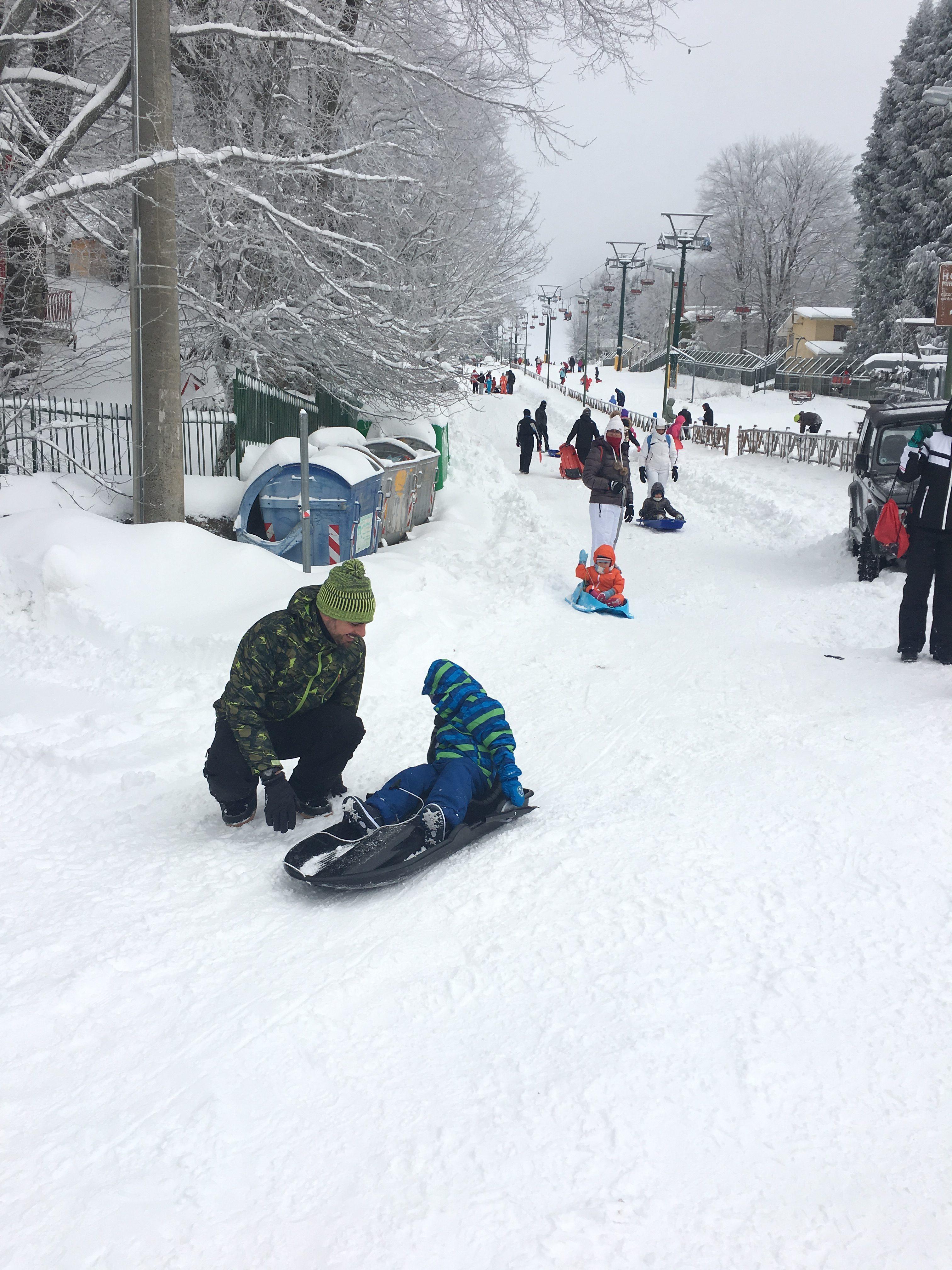 giocare sulla neve
