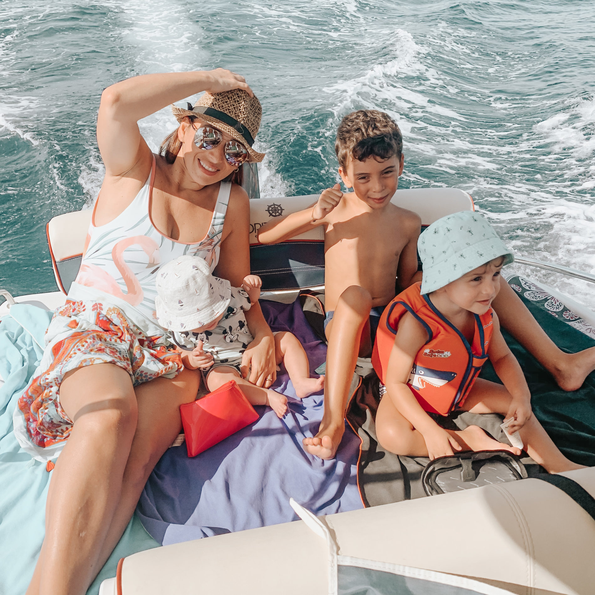 gita in barca insieme ai bambini