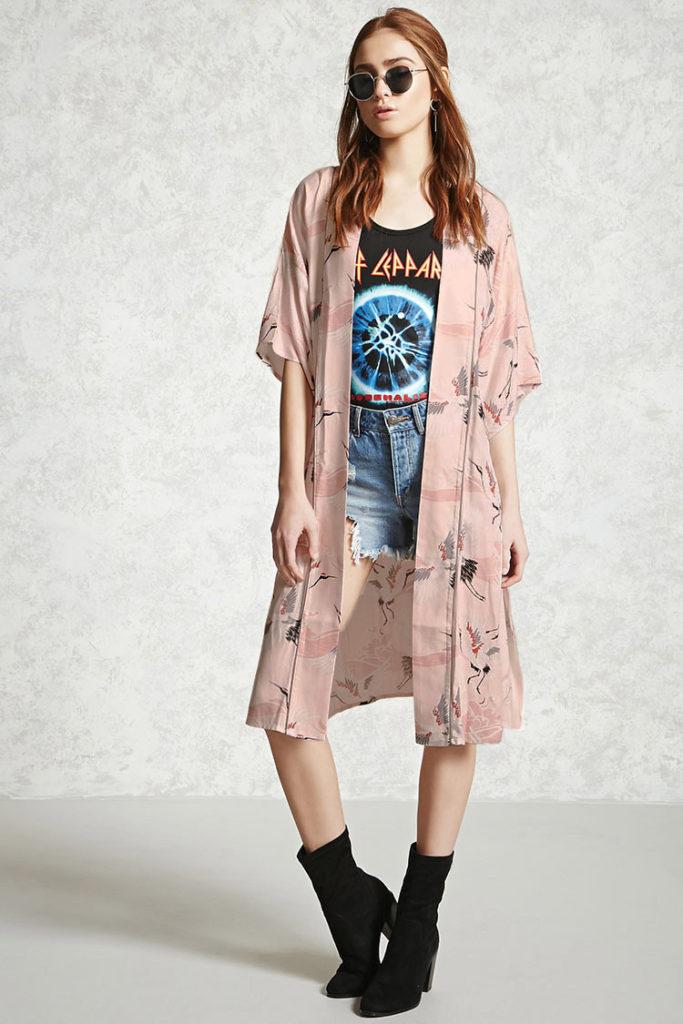kimono da abbinare a shorts
