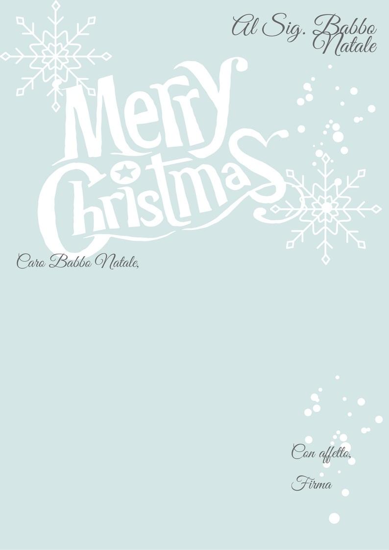 Lettera Babbo Natale da stampare