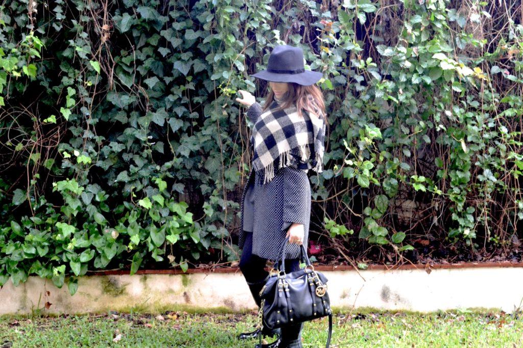 outfit maxi sciarpa di lana