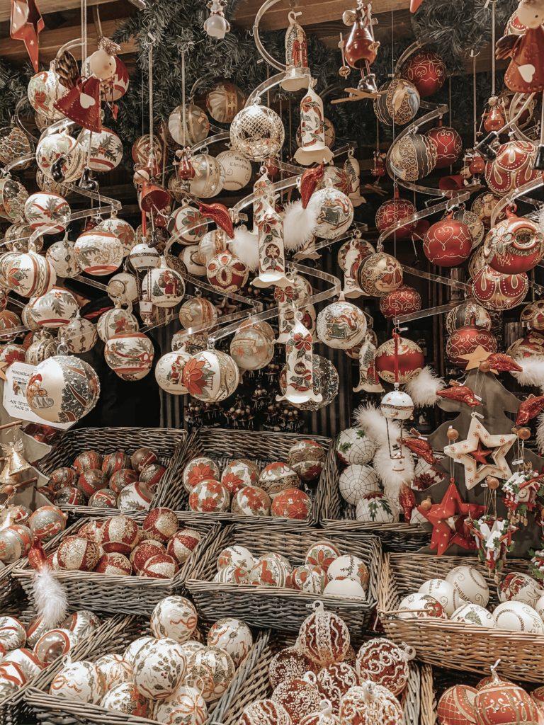 decorazioni natalizie ai mercatini di Vienna