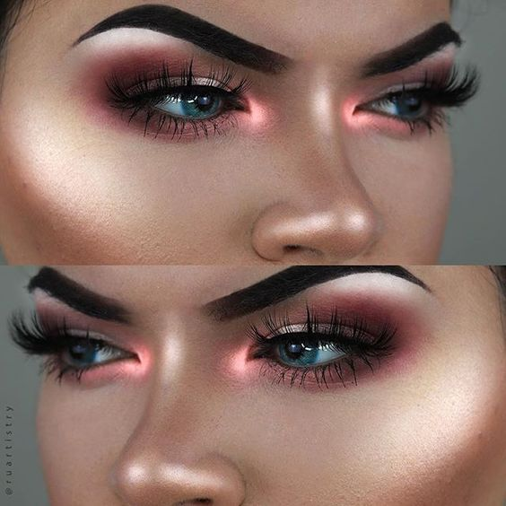 neon strobing tendenze make up