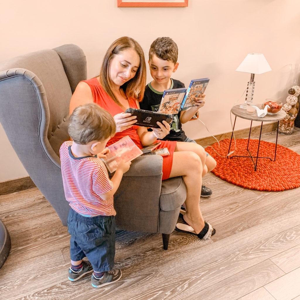 tuttosuivideogiochi mamma e figli console nintendo switch