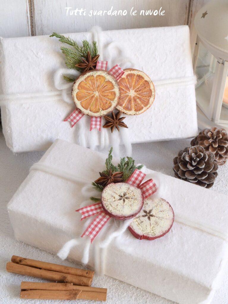 pacchetti regalo con frutta essiccata