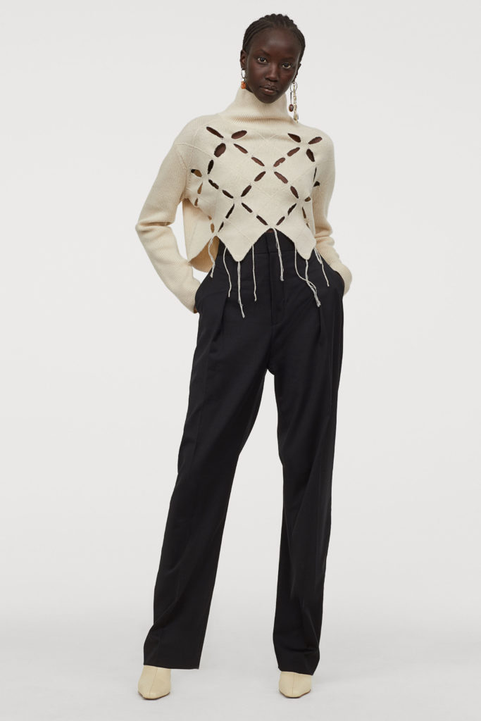 pantaloni vita alta per snellire silhouette