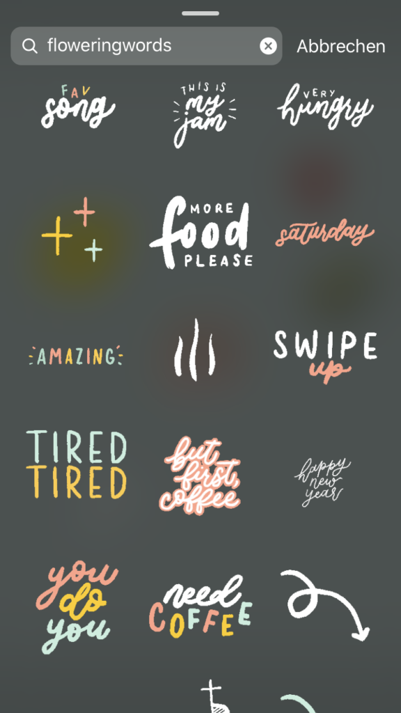 parole chiave da cercare per gif su instagram