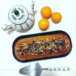 dolce sano per bambini: plumcake con arance rosse biologiche