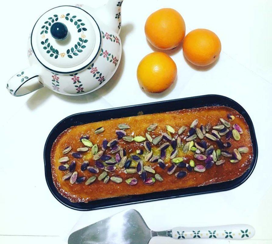 Dolci sani per bambini: plumcake con arance rosse bio e pistacchio di Bronte