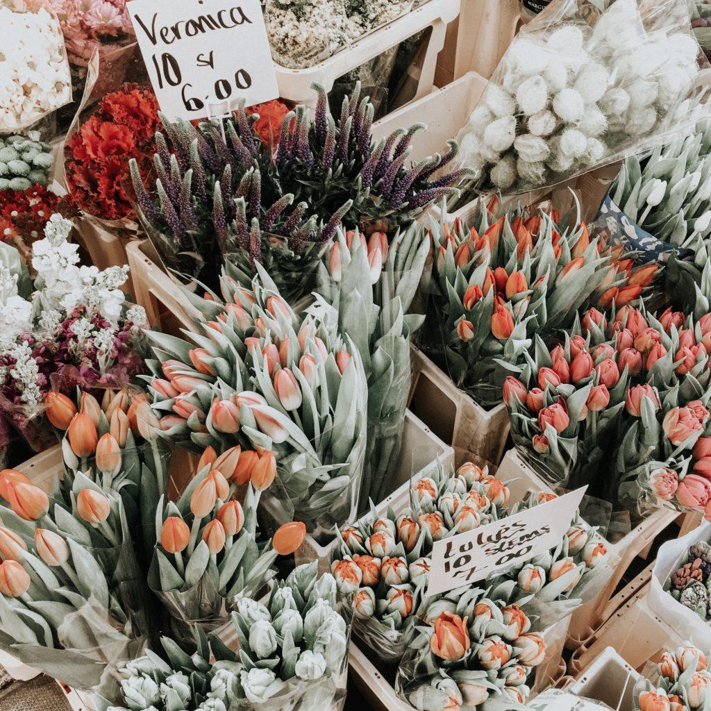 fiori di Portobello Market a Londra
