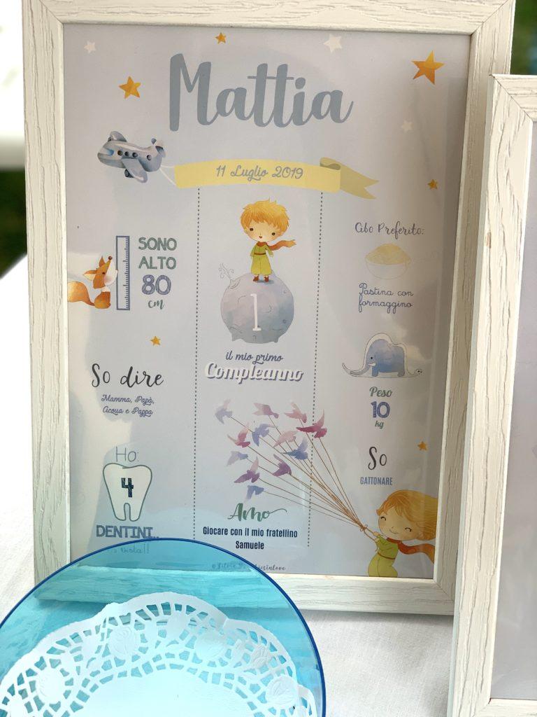 poster primo compleanno silviagraphicsinlove