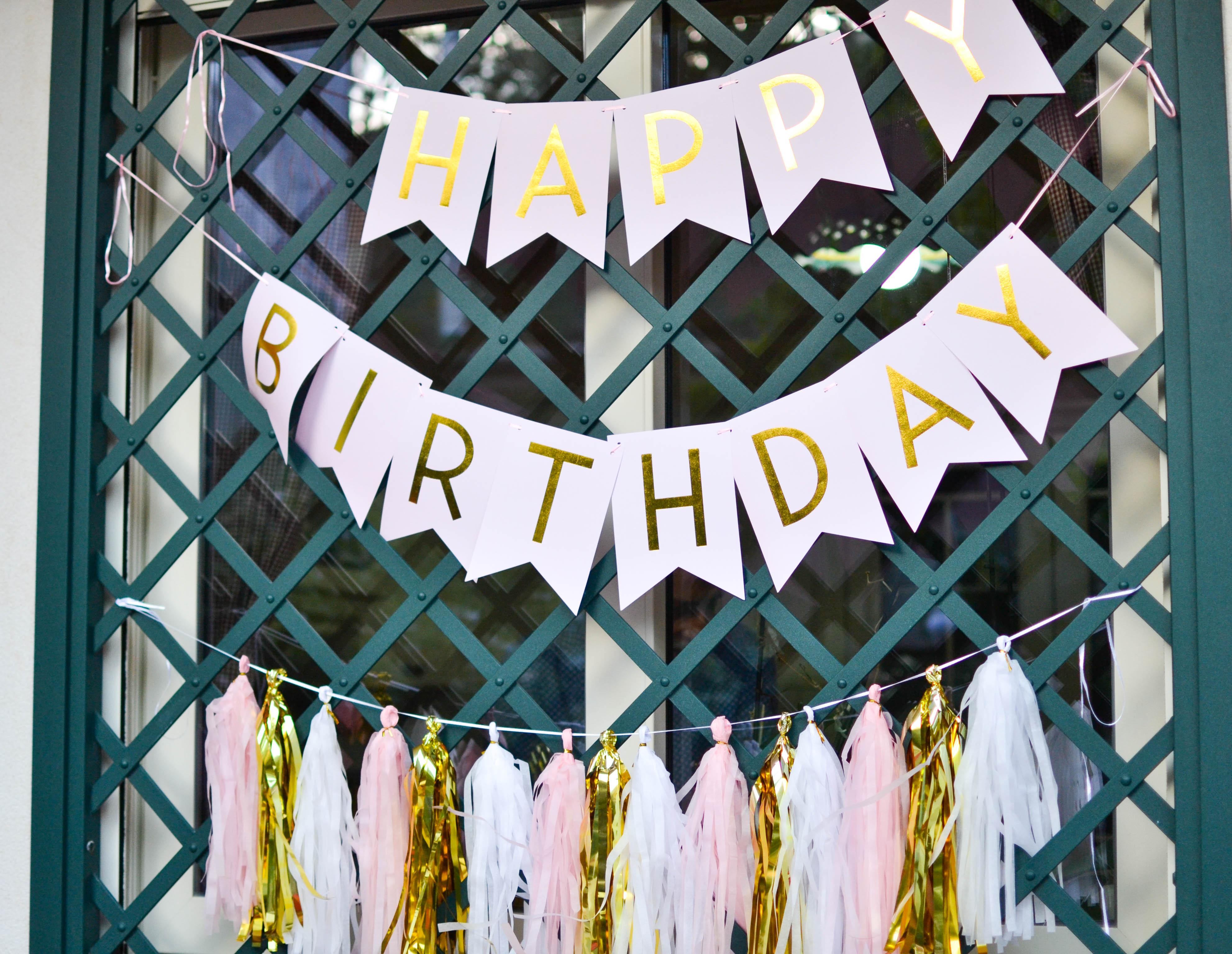 primo compleanno in giardino