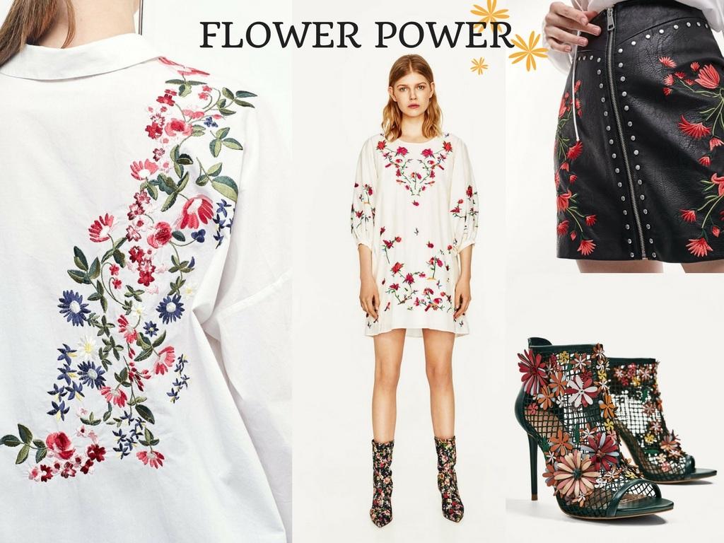 ricami floreali tendenza moda primavera estate