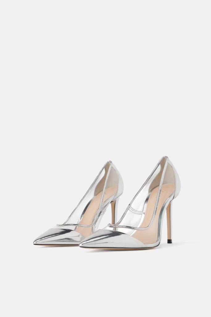 scarpe in vinile trasparenti tendenze moda estate 2019