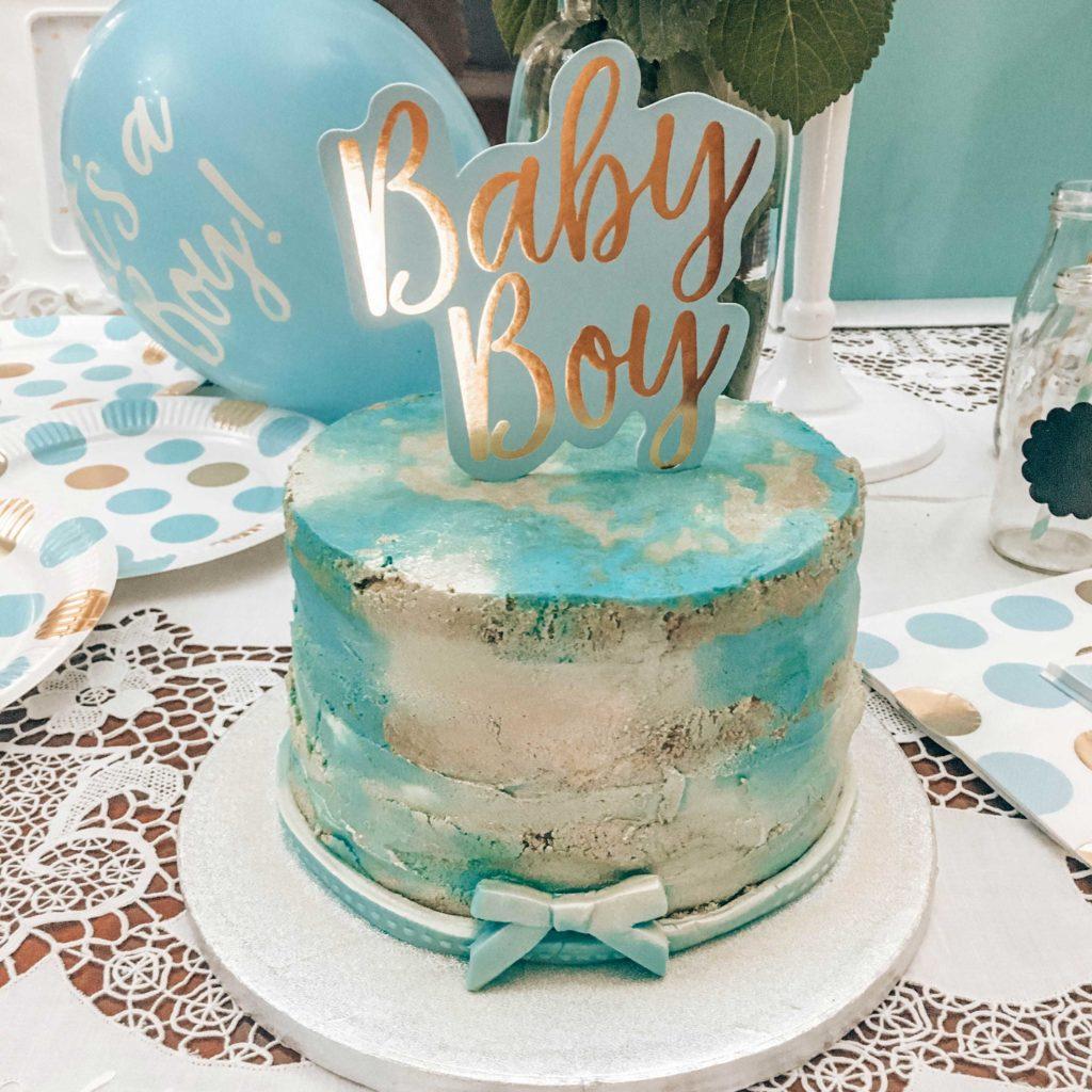 torta babyshower seminaked cake