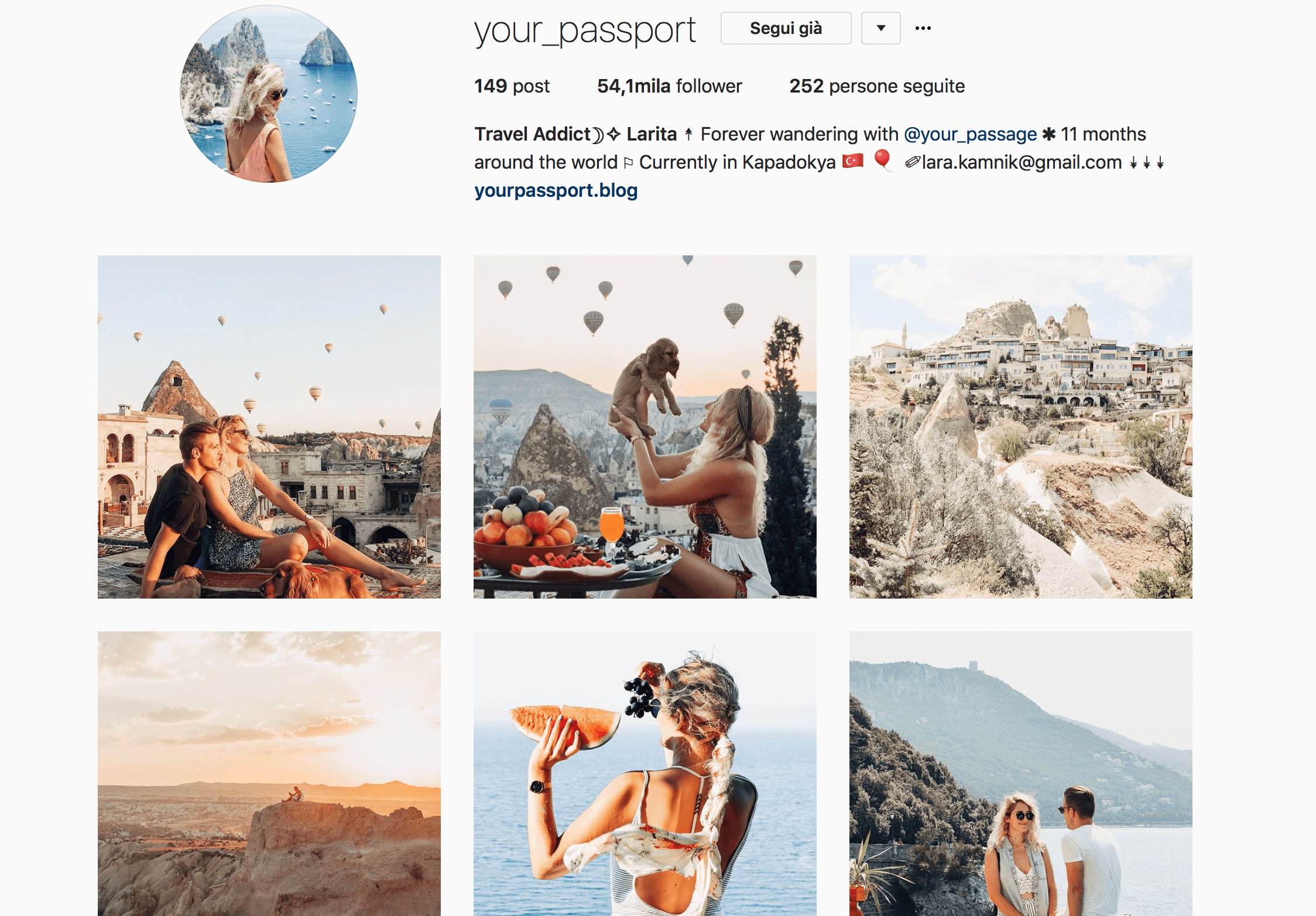 travel instagram